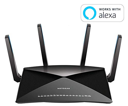 - NETGEAR Nighthawk X10 Smart WiFi Router (R9000) - AD7200 Wireless Speed (up to 7200 Mbps) for 60Ghz WiFi Devices | Up to 2500 sq ft Coverage | 6 x 1G Ethernet, 1 x 10G SFP+, and 2 USB ports
