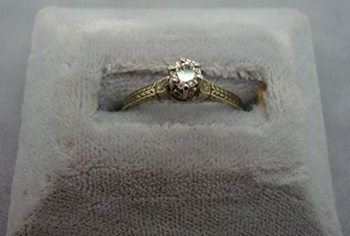 14K Gold Ring with .15ct Genuine Natural Diamonds (#962)