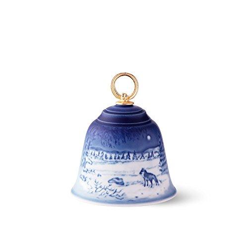 Royal Copenhagen  Bing & Grondahl 1024803 Annual Christmas Bell 2018 ,Blue
