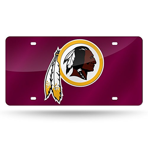 NFL Washington Redskins Laser Inlaid Metal License Plate Tag