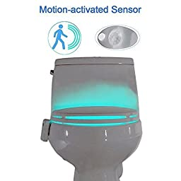 Voion Motion Sensor LED Toilet Light, 8-Color Changing with 2 Modes, Bathroom Decor - 1 Pack