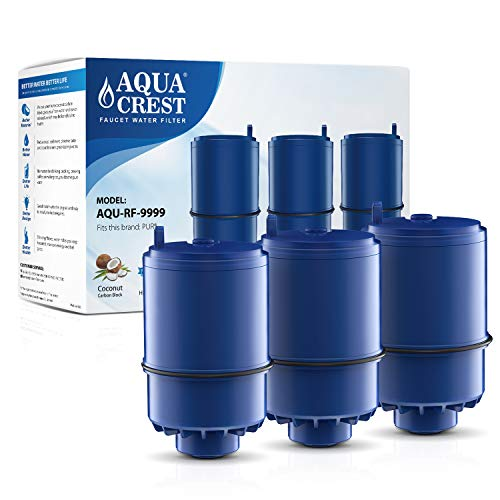 Read About AQUACREST RF-9999 Water Filter, Compatible with Pur RF-9999 Faucet Replacement Water Filter (Pack of 3, Packing may vary)