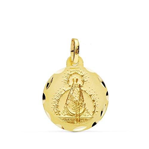 Médaille pendentif Virgin or Head 16mm 18k. [AB0779]
