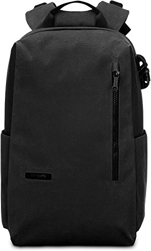 PacSafe Intasafe Anti-Theft 15-inch Laptop Backpack-Black Business, One Size
