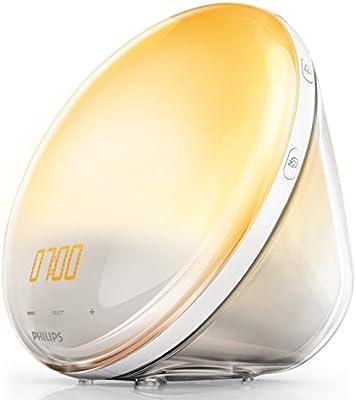 Philips Despertador HF3531/01 - Despertador de Luz lez, Radio FM, Simulación del Amanecer y del Atardecer, 7 Sonidos Naturales, 1 Alarma, Cargador USB ...