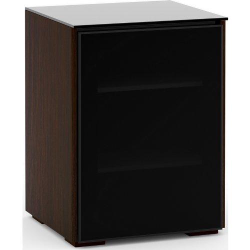 Salamander Audio Racks - Salamander Designs Oslo 317 Audio Rack Cabinet or TV Stand in Wenge w/ Black Glass