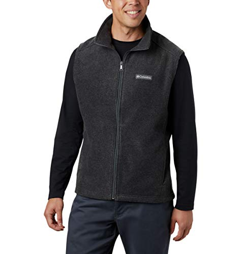 Columbia Men's Tall Size Steens Mountain Full Zip Soft Fleece Vest, Charcoal Heather, 2XT (Columbia Cathedral Peak Mens Vest)