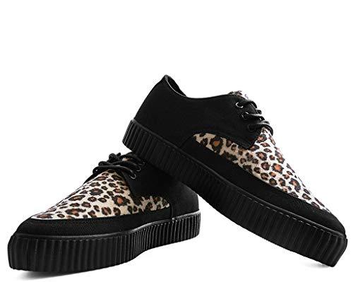 Femmes Fausse Noir Pointu T Léopard k Sneaker Fourrure Hommes De Shoes u Liane qUxBnHx
