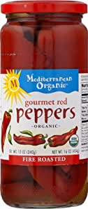 Mediterranean Organic Gourmet Red Peppers Fire Roasted -- 16 oz