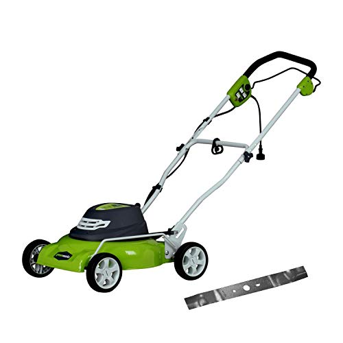 Greenworks 18-Inch 12 Amp Corded Electric Lawn Mower with Extra Blade 25012 (Best Deals On Lawn Tractors)