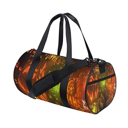 Gym Bag HD Halloween Background Womens Yoga Canvas Duffel Bag Cute Sports Bag for -