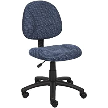Ordinaire Boss Office Products B315 BE Perfect Posture Delux Fabric Task Chair  Without Arms In Blue