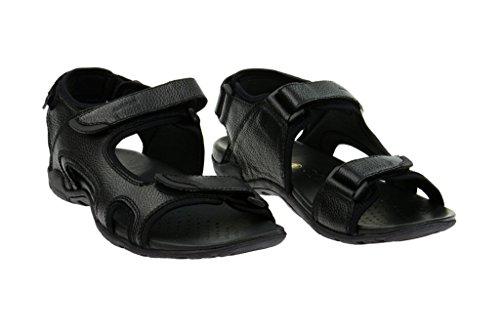 Sandale S Nero schwarz in U3276F Geox Summer Geox Nero Sandali Echtleder uomo v5xwXt
