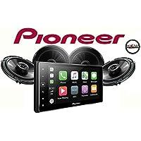Pioneer MVH-1400NEX 6.2 Digital Multimedia Receiver w/ Apple CarPlay and TWO Pairs of Pioneer TS-G1645R 6-1/2 2-way Car Speakers and a SOTS Air Freshener