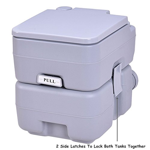 5 Gallon 20L Portable Toilet Flush Travel Camping Outdoor/Indoor Potty Commode TKT-11 by TKT-11 (Image #2)