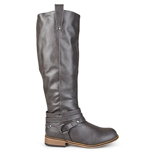 Womens Tall Riding Boots (Brinley Co Women's Bailey Riding Boot, Grey, 10 M US)