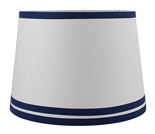Around blue bottom lamp shade top trim white