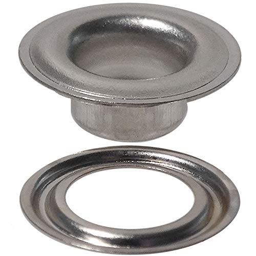 Stimpson Self-Piercing Grommet and Washer Nickel-Plated Reliable, Durable, Heavy-Duty #1 Set (750 Pieces of Each) by Stimpson (Image #4)