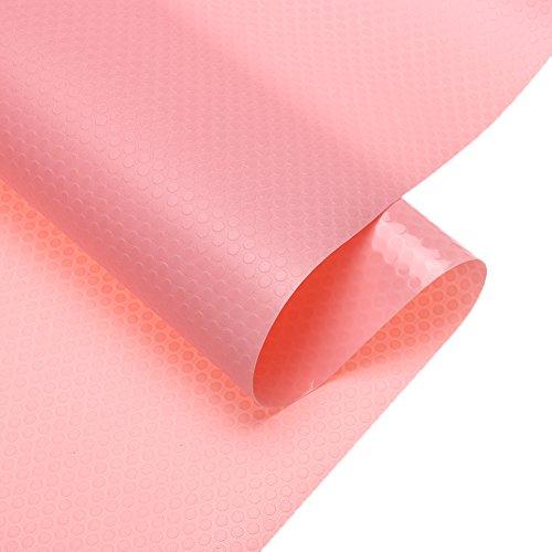 MagicFeel EVA Anti-mildew Anti-bacterial Non Slip Waterproof Fridge Refrigerator Shelf Pads Kitchen Cupboard Cabinet Drawer Liners Mat, 17.7 inch x 59 inch - 1 Roll (Pink)
