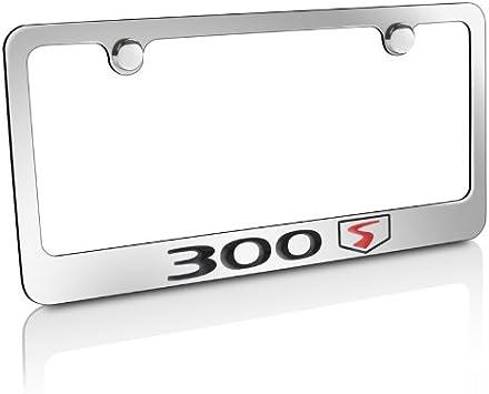 Chrysler SRT 8 Chrome Plated Metal Bottom Engraved License Plate Frame Holder