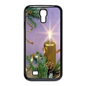 Samsung Galaxy S4 9500 Cell Phone Case Black_Golden Candle Daubx