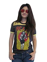 Bunny Brand Women's AC DC for theose about to rock Ringer T-Shirt Jesrey New
