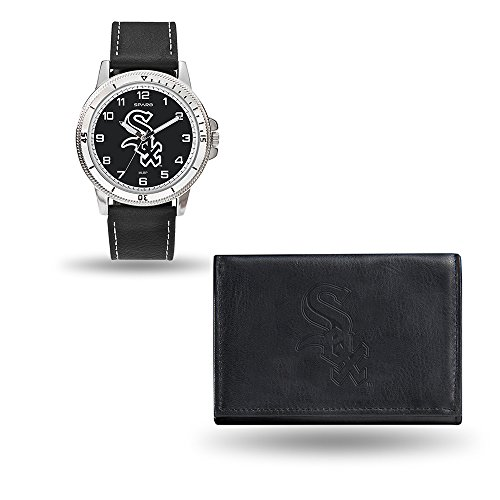 Watch Sox Game Chicago White (MLB Chicago White Sox Men's Watch and Wallet Set, Black, 7.5 x 4.25 x 2.75-Inch)