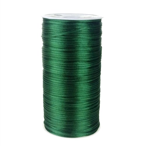 Int Satin - Homeford Firefly Imports Satin Rattail Cord Chinese Knot, 2mm, 200 Yards, Hunter Green,