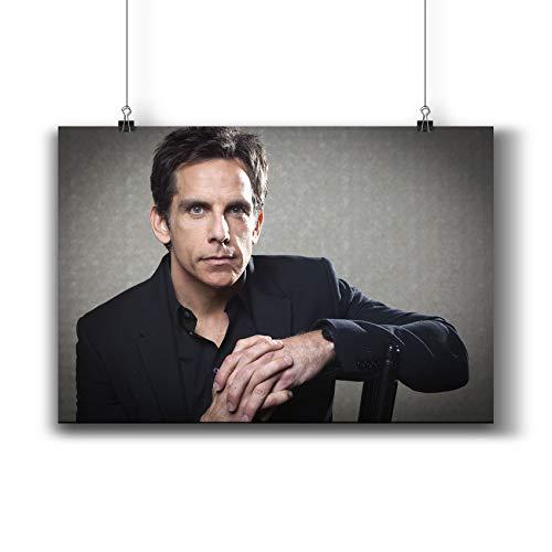 Ben Stiller Actor Movie Photo Poster Prints 413-001,Wall Art Decor for Dorm Bedroom Living Room (A4|8x12inch|21x29cm)