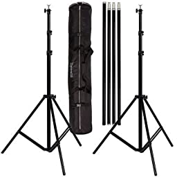 Ravelli ABS Photo Video Backdrop Stand Kit 10\' Tall x 12.3\' Wide with Dual Air Cushion Stands and Bag