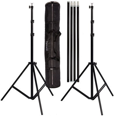 Ravelli ABS Photo Video Backdrop Stand Kit 10' Tall x 12.3' Wide with Dual Air Cushion Stands and Bag