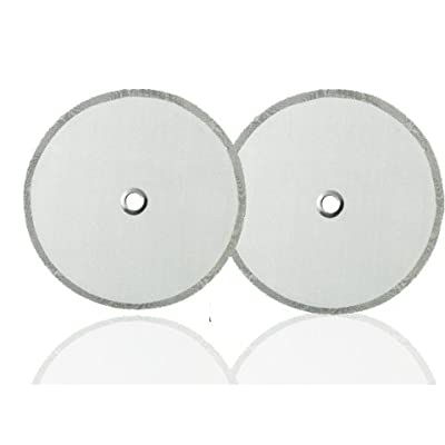 Bodum French Press Replacement Filter Screen (2pack) - Includes Metal Center Ring - Best Universal 8-Cup Stainless Steel Reusable Filter