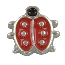 Quiges Ladybug Floating Locket Charm for Quiges Memory Lockets