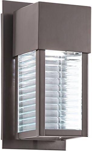 Kichler 49117AZLED, Sorel Cast Aluminum Outdoor Wall Pocket Sconce Lighting LED, Bronze