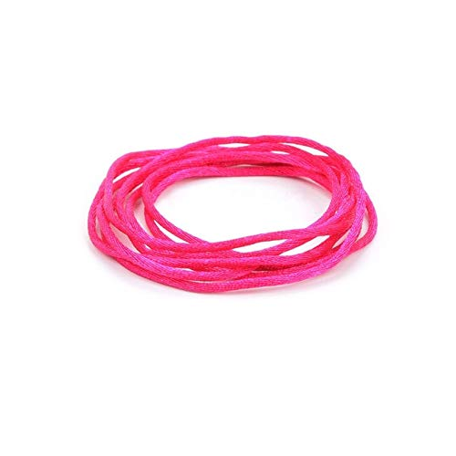 Kamas DIY Jewelry 20m/pcs Satin Cords for Silicone Teething Necklace DIY Accessary String Bracelet Silicone Necklace Cord Nylon - (Color: Violet red)