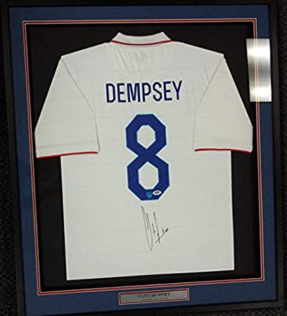 4e77cbf5774 Image Unavailable. Image not available for. Color  Team USA Clint Dempsey  Autographed Framed White Nike ...