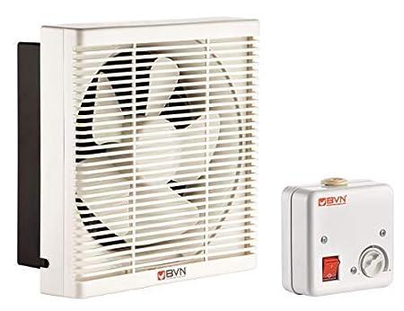 Ventilator L/üfter Be-Abluft Klappe Wand Fenster Absaugung Axial /ø150mm 300m/³//h inklusive Drehzahlregler