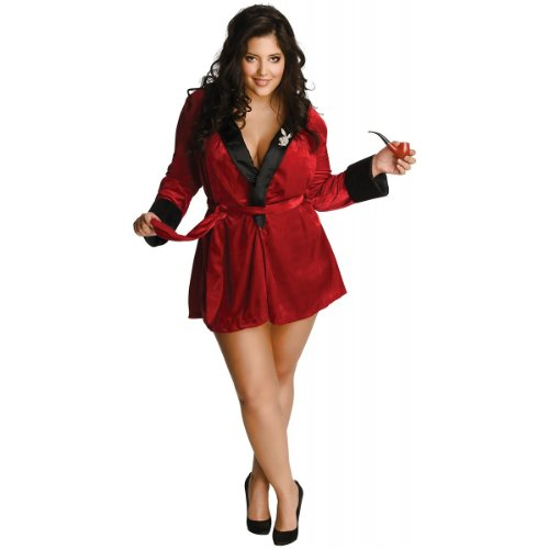 Secret Wishes Women's Playboy Sexy Girlfriend Red Plus Size Costume, Red, (Smoking Jacket Fancy Dress Costume)