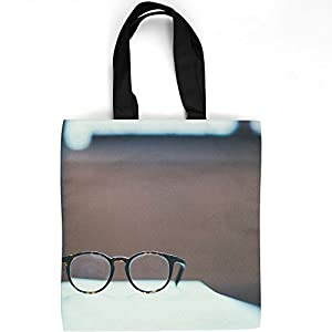 Westlake Art - Glasses Frame - Tote Bag - Fashionable Picture Photography Shopping Travel Gym Work School - 16x16 Inch (10B3F)
