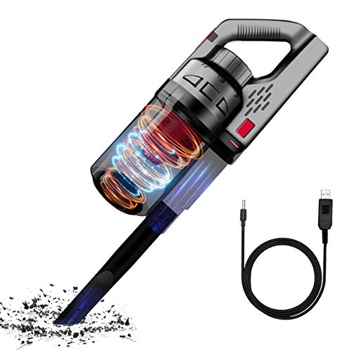 Handheld Vacuum, Ultra Powerful Suction Wireless Vacuum with 2600mAh Lithium Battery, USB Charging Cable, 120W 7 Kpa Portable Cordless Car Vacuum for Home & Car Cleaning