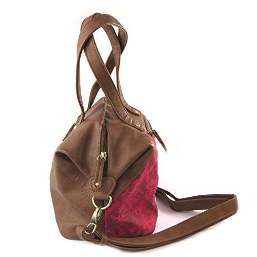 Bolsa de diseñador 'Gabol'de color marrón rojizo.