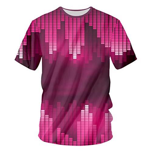 Sound Activated LED T Shirt Light Up Down Flashing Equalizer T-Shirt Men Rock Party DJ T Shirt Equalizer Tshirt M]()