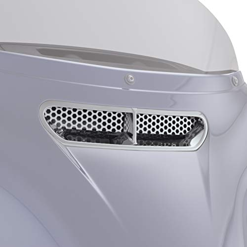 Show Chrome Accessories 91-308WS Chrome Fairing Vent and Screen