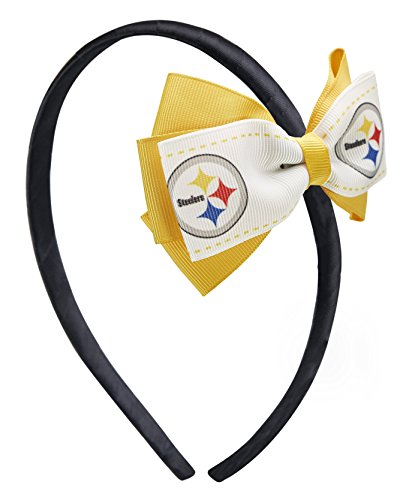 NFL Pittsbugh Steelers 2-Tone Bow Headband from SteelerMania