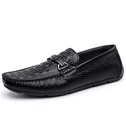 Mocasines Suela y Negro Verano para Zapatos Hombres Negro Cuero Primavera Perezosos Mocasines Suave Caminar Slip Conducción para Confort Ons Zapatos Zapatos Otoño YaXuan Sz8BqHx