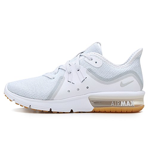 Running White Sequent Max Air Bianco 001 Platinum Scarpe 3 Pure Wmns Nike Donna tzxw4ZYn