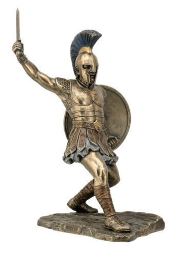 11.5 Inch Hector With Sword & Shield Statue Sculpture Figurine Troy Greek Decor