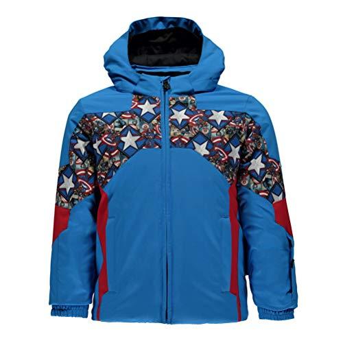 Spyder Boy's Mini Marvel Ambush Ski Jacket, French Blue/Captain, Size 7 ()