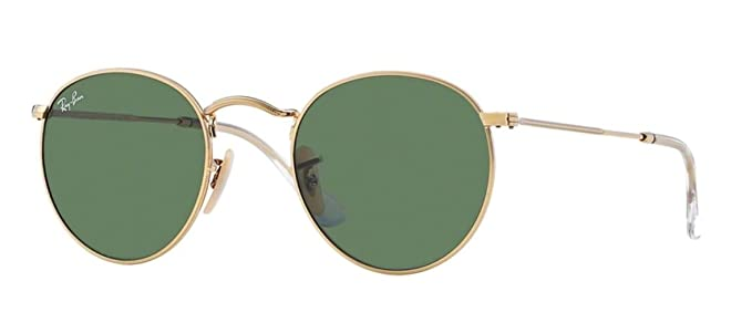 Amazon.com: Ray-Ban RB3447 - Gafas de sol redondas de metal ...