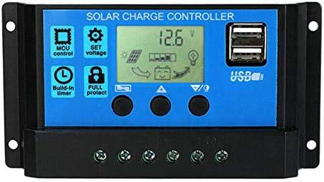 Abilieauty Solarladeregler 12V / 24V Autofokus-Tracking-Solarpanel-Regler